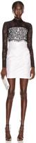 Rasario Lace Corset Mini Dress in Black & White | FWRD