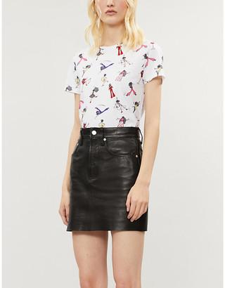 Alice + Olivia Alice & Olivia Rylan graphic-print cotton-jersey T-shirt
