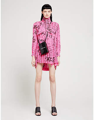 Balenciaga Graphic-print woven mini dress
