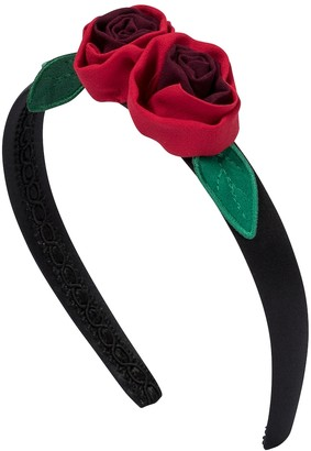 Dolce & Gabbana Kids Floral appliqued headband
