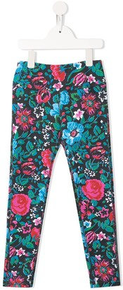 Go To Hollywood Floral-Print Straight Trousers