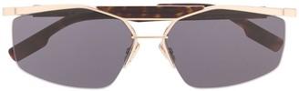 Christian Dior Psychodelic rectangle-frame sunglasses