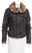 Belstaff Fur-Trimmed Quilted Jacket