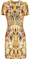 Alexander McQueen Printed cady dress