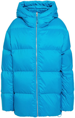Theory Quilted Shell Hooded Jacket
