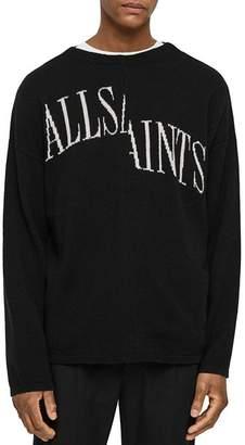AllSaints Split Saints Crewneck Sweater