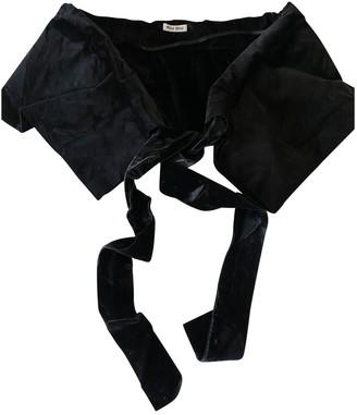 Miu Miu Black Velvet Scarves