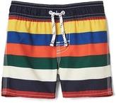 Gap Bright stripes swim trunks