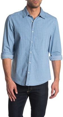 Perry Ellis Rolled Sleeve Linen Button Down Shirt