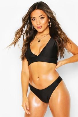 boohoo Petite Mix & Match Plunge Bikini Top