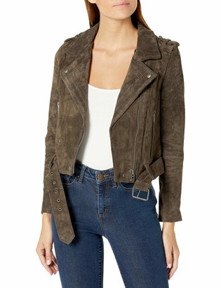 Blank NYC Women's Real Suede Moto Jacket