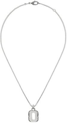 "Gucci Silver ""O"" letter necklace"