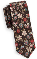 Haight And Ashbury Slim Brushed Flower Tie