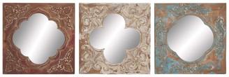 "Uma Moroccan Tile Mirrors - 16"" x 16"" - Set of 3"