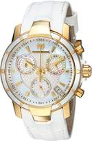 Technomarine Women's 'UF6' Quartz Gold-Tone and Leather Casual Watch, Color:White (Model: TM-615002)