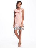 Old Navy Ruffled Off-Shoulder Swing Dress for Girls
