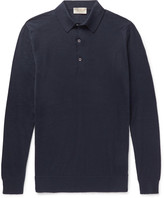 John Smedley - Lanlay Cotton And Cashmere-blend Polo Shirt
