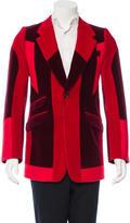 Alexander McQueen Velvet Colorblock Blazer