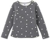 Petit Bateau Girls polka dot sweatshirt