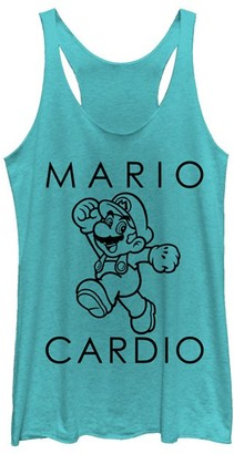 Super Mario Bros. Women's Tank Tops TAHI - Super Mario Bros. 'Mario Cardio' Racerback Tank - Women & Juniors