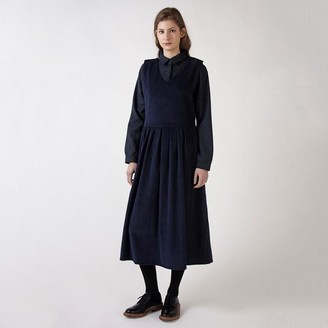 Kate Sheridan Navy Jumbo Cord Pottery Dress