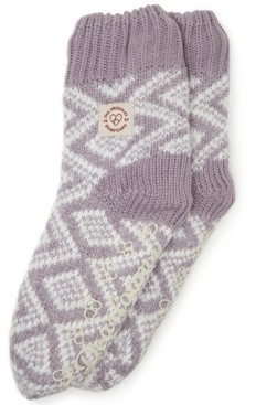 Dearfoams Fairisle Knit Flurry Slipper Sock, Online Only