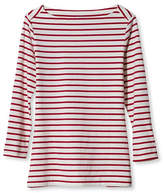 L.L. Bean Signature Cotton/Modal Boatneck Top, Stripe