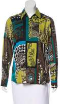 Etro Abstract Print Button-Up Top