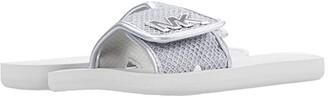 MICHAEL Michael Kors MK Slide (Silver 2) Women's Sandals
