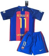 StarSoccer Neymar NEW 2016-2017 FC Barcelona Home Jersey & Shorts for Kids/Youth