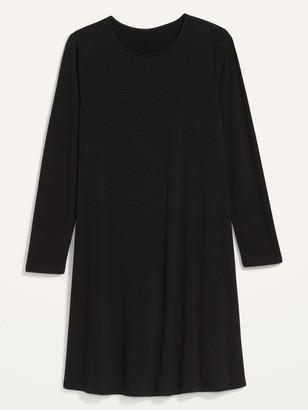 Old Navy Slub-Knit Long-Sleeve Swing Dress for Women