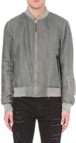 Alexander McQueen Padded silk bomber jacket