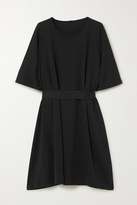 Rick Owens Minerva Belted Cotton-jersey Tunic