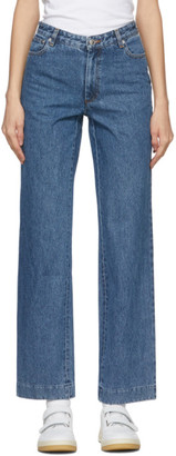 A.P.C. Blue Long Sailor Jeans