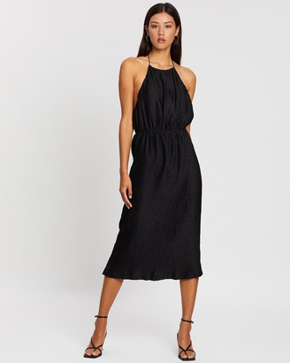 Third Form Ripple Pleat Halter Dress
