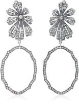 Lulu Frost Camellia Statement Gold and Silver-Plated Brass Earrings
