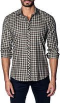Jared Lang Gingham Sport Shirt, Gray