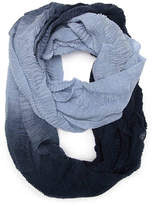 Cejon Women's Ombre Ruched Infinity Scarf
