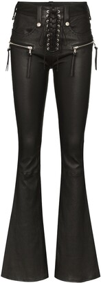 Unravel Project high waist flared trousers