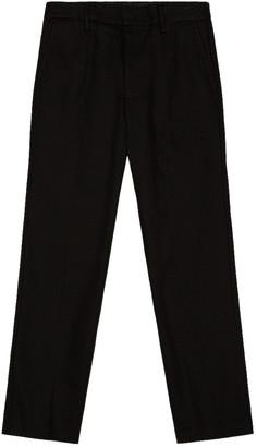 Acne Studios Cotton Twill Trousers in Black | FWRD