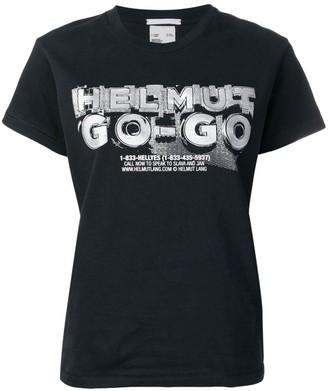 Helmut Lang go-go print T-shirt