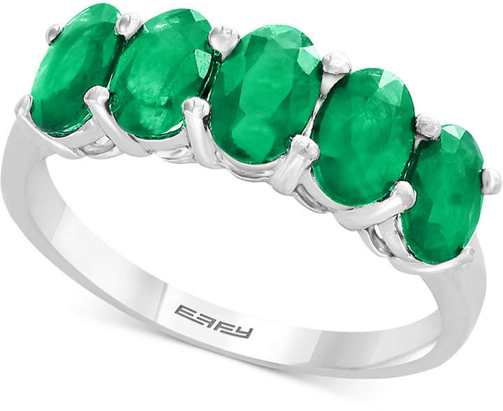 Effy Emerald Ring (1-2/3 ct. t.w.) in Sterling Silver