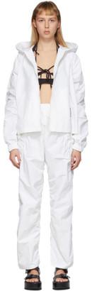 Hyein Seo White Detachable Jacket Jumpsuit