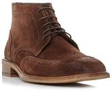Bertie Brown 'canister' Wingtip Brogue Boot