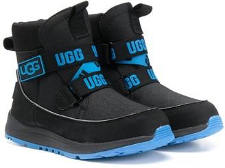 Ugg Kids Logo Strap Ankle Boots