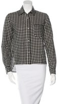 Etoile Isabel Marant Gingham Button-Up Top