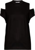 Toga Cut-out shoulder cotton-jersey T-shirt