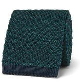 Boglioli 6cm Herringbone Knitted Silk Tie