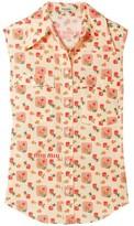 Miu Miu Floral-print Cotton-broadcloth Shirt