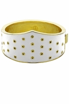 House Of Harlow White Leather Triangle Cuff in Gold